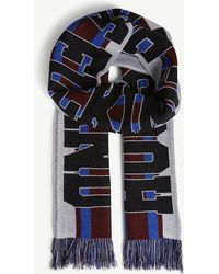 House of Holland - Logo Stripe Knitted Scarf - Lyst