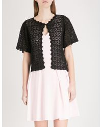 Claudie Pierlot | Patterned Knitted Cardigan | Lyst