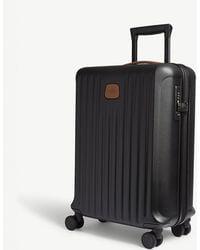 Bric's Black Matt Stripe Capri Hard Case Carry On Suitcase