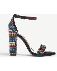 Steve Madden Carrson-r Embellished Sandals - Blue
