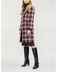 Claudie Pierlot - Galion Check Woven Coat - Lyst