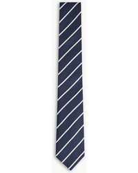 Tiger Of Sweden - Pinor Stripe Basketweave Cotton Tie - Lyst