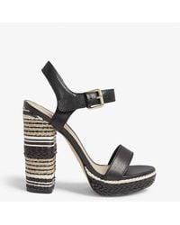 ALDO Huglag Leather Platform Sandal - Black
