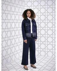 Dior Logo-embroidered Denim Jacket - Blue