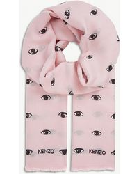 KENZO - Eyes-all-over Print Modal-silk Blend Scarf - Lyst