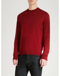 Emporio Armani - Logo-embroidered Wool Jumper - Lyst