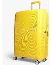 American Tourister Soundbox Expandable Four-wheel Suitcase 77cm - Yellow