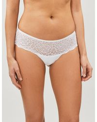 Simone Perele - Caresse Jersey And Stretch-lace Shorty Briefs - Lyst