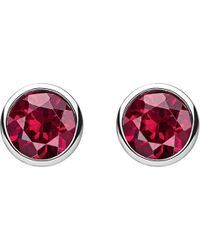 Thomas Sabo - Classic Red Stone Sterling Silver Ear Studs - Lyst