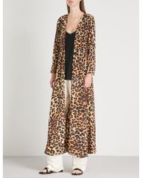 We Are Leone Leopard-print Silk-crepe De Chine Maxi Cardigan - Multicolor