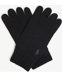 Polo Ralph Lauren - Logo Merino Wool Gloves - Lyst