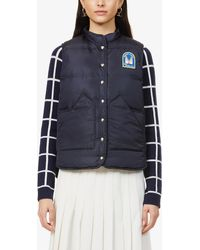 Gabriela Hearst Anthony Padded Recycled-shell And Recycled-cashmere Gilet - Blue