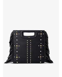 Maje Black M Studded Leather Cross-body Bag 1 Size