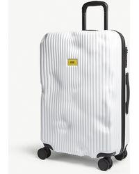 Crash Baggage Stripe Medium Suitcase 68cm - White
