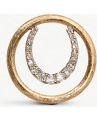 Annoushka - Horseshoe 18ct Yellow Gold And Diamond Hoopla - Lyst