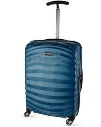 Samsonite Lite-shock Spinner 55 Four-wheel Cabin Suitcase - Blue