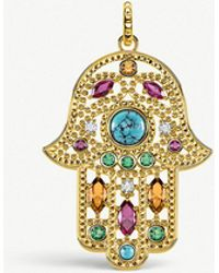 Thomas Sabo - Hand Of Fatima 18ct Yellow Gold-plated Pendant - Lyst