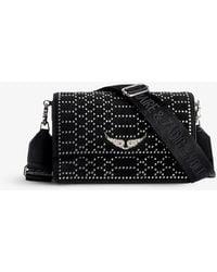 Zadig & Voltaire Lolita Stud-embellished Suede Cross-body Bag - Black