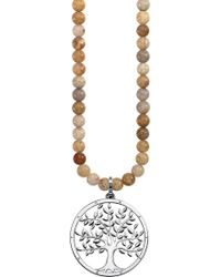 Thomas Sabo - Tree Of Love 18ct Rose Gold-plated Sterling Silver And Jasper Necklace - Lyst