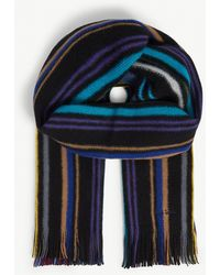 Paul Smith - Reversible Striped Wool Scarf - Lyst
