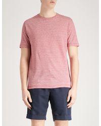 Slowear - Zanone Linen-blend T-shirt - Lyst