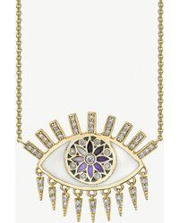 The Alkemistry - Sydney Evan Large Kaleidoscope 14ct Yellow Gold And Diamond Necklace - Lyst