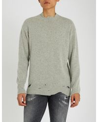 Diesel Beige Distressed K-lol Sweater in Natural for Men - Lyst f3d713c2fac4