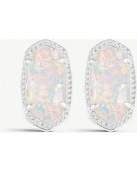 Kendra Scott - Ellie 14ct Silver-plated White Kyocera Stud Earrings - Lyst