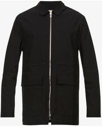 PREVU Signature Collared Woven Jacket - Black