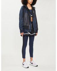 Nike Drawstring-hood Contrast-panel Shell Jacket - Black