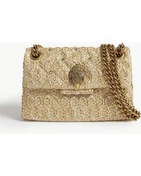 Kurt Geiger Mini Kensington Raffia Shoulder Bag - Natural