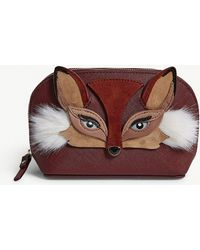 Kate Spade - So Foxy Leather Make-up Bag - Lyst