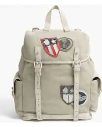 Eleventy - Green Canvas And Suede Backpack - Lyst