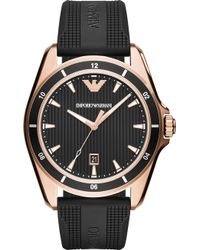 Emporio Armani - Ar11101 Sigma Rose Gold-plated Stainless Steel Quartz Watch - Lyst