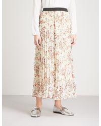 Maje | Floral-print Chiffon Skirt | Lyst