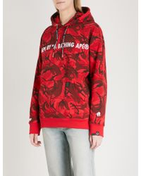 Aape | Metallic Logo-embroidered Cotton-blend Hoody | Lyst