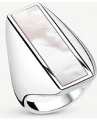 Thomas Sabo Heritage Sterling Silver And Mother-of-pearl Ring - Metallic