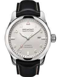 Bremont Solo-pw Stainless Steel And Calf Skin Leather Watch - Metallic