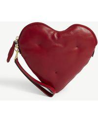 Anya Hindmarch - Chubby Heart Leather Clutch - Lyst