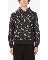 A Bathing Ape Shark-print Camouflage Cotton-jersey Hoody - Black