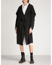 Y's Yohji Yamamoto - Draped-panel Crepe Jacket - Lyst