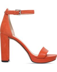 Nine West - Dempsey Suede And Smooth Leather Sandals - Lyst