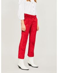 Silvia Tcherassi - Lionetta Flared Cropped Corduroy Trousers - Lyst