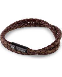 Tateossian - Chelsea Leather Double-wrap Bracelet - Lyst