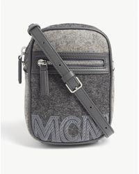 MCM Loden Stone-effect Crossbody Bag - Gray