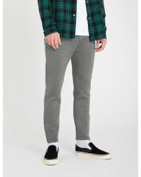 The Kooples - Zipped-cuff Jersey Tapered jogging Bottoms - Lyst