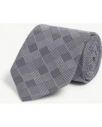 Eton of Sweden Houndstooth Silk Tie - Black