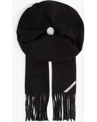Acne Studios Canada Skinny Wool Scarf - Black