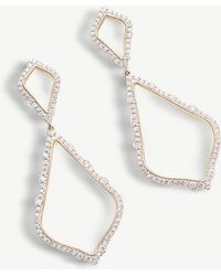 Kendra Scott - Alexa 14ct Yellow-gold And Diamond Earrings - Lyst