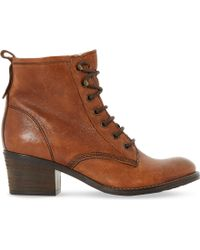 Dune - Leather Lace Up Patsie Ankle Boot - Lyst